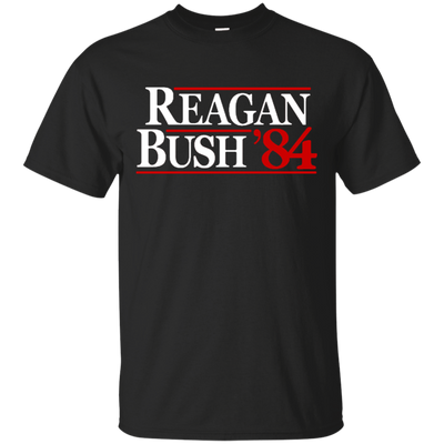 Reagan Bush T Shirt - Black - Shipping Worldwide - NINONINE