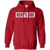 Rents Due Hoodie - Red - Shipping Worldwide - NINONINE