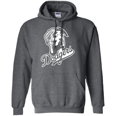 Tupac Dodgers Hoodie - Dark Heather - Shipping Worldwide - NINONINE