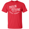 Maison Kitsune Shirt Dark - Red - Shipping Worldwide - NINONINE