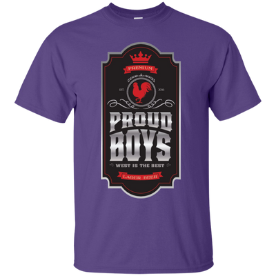 Proud Boys Shirt West Is The Best V2 - Purple - Shipping Worldwide - NINONINE