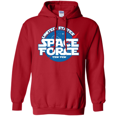 United States Space Force Pew Pew Hoodie - Red - Shipping Worldwide - NINONINE