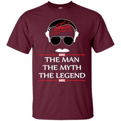 Stan Lee The Man The Myth The Legend Shirt - Maroon - Shipping Worldwide - NINONINE