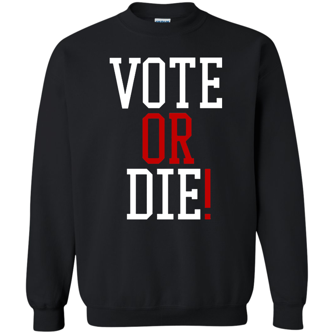 Vote Or Die Sweater Black