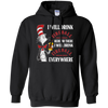 Cat In The Hat Fireball Hoodie - Black - Shipping Worldwide - NINONINE