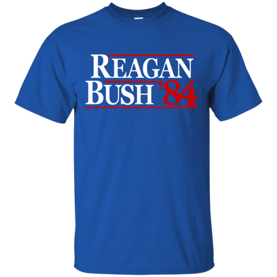 Reagan Bush T Shirt - Royal - Shipping Worldwide - NINONINE