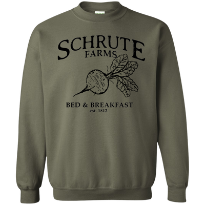 Schrute Farms Bed And Breakfast Est 1812 Sweater - Military Green - Shipping Worldwide - NINONINE