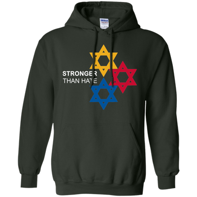Pittsburgh Stronger Than Hate Hoodie - Forest Green - Shipping Worldwide - NINONINE