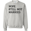 Nope Still Not Married Sweater Light - Ash - Shipping Worldwide - NINONINE