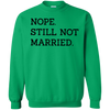 Nope Still Not Married Sweater Light - Irish Green - Shipping Worldwide - NINONINE