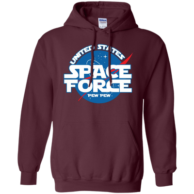 United States Space Force Pew Pew Hoodie - Maroon - Shipping Worldwide - NINONINE