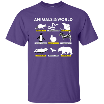 Animals Of The World Shirt - Purple - Shipping Worldwide - NINONINE