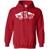 Vans Off The Wall Hoodie Dark - Red - Shipping Worldwide - NINONINE
