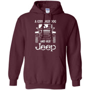 A Girl Her Dog And Her Jeep Hoodie