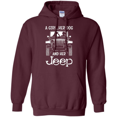 A Girl Her Dog And Her Jeep Hoodie - Shipping Worldwide - NINONINE