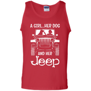 A Girl Her Dog And Her Jeep Tank Top