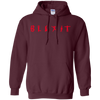 Blexit Hoodie Red Text - Maroon - Shipping Worldwide - NINONINE