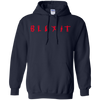 Blexit Hoodie Red Text - Navy - Shipping Worldwide - NINONINE