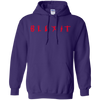 Blexit Hoodie Red Text - Purple - Shipping Worldwide - NINONINE
