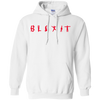 Blexit Hoodie Red Text - White - Shipping Worldwide - NINONINE