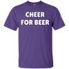 Cheer For Beer Shirt - Purple - Shipping Worldwide - NINONINE