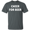 Cheer For Beer Shirt - Dark Heather - Shipping Worldwide - NINONINE