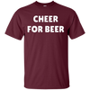 Cheer For Beer Shirt - Maroon - Shipping Worldwide - NINONINE