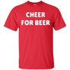 Cheer For Beer Shirt - Red - Shipping Worldwide - NINONINE