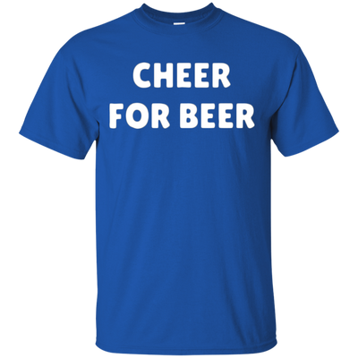 Cheer For Beer Shirt - Royal - Shipping Worldwide - NINONINE