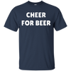 Cheer For Beer Shirt - Navy - Shipping Worldwide - NINONINE