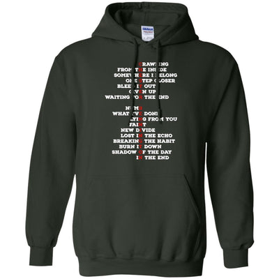 Chester Bennington Song Tittles Hoodie - Shipping Worldwide - NINONINE