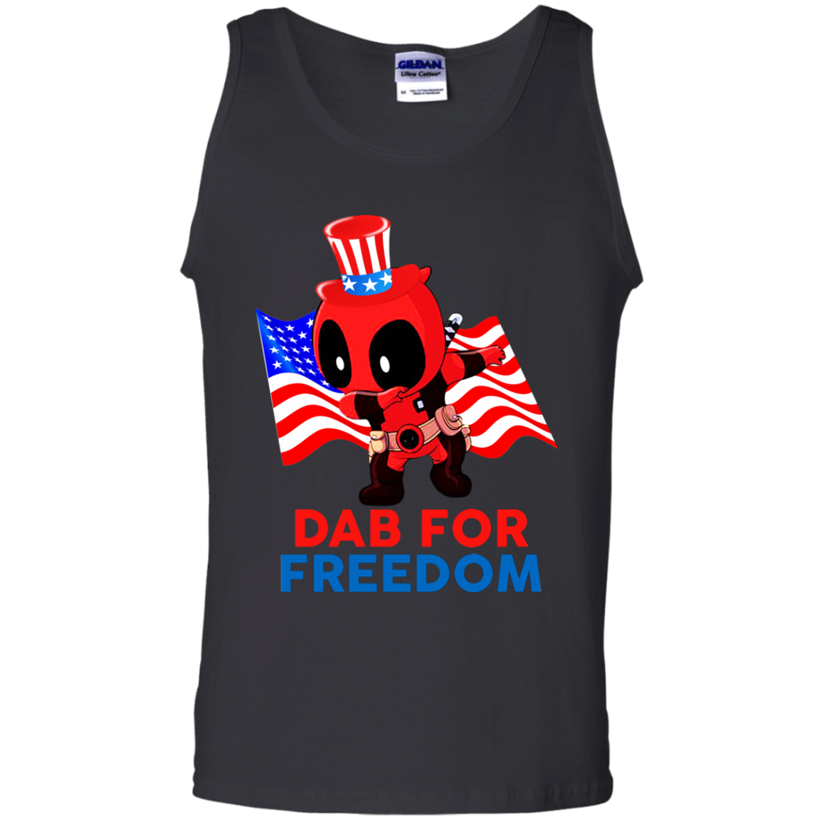 Deadpool Dab For Freedom Tank Top
