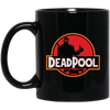 Deadpool Jurassic World Logo Mug - Shipping Worldwide - NINONINE