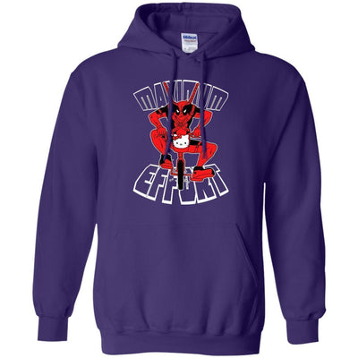 Deadpool On Kitty Bicycle Maximum Effort Hoodie - Shipping Worldwide - NINONINE