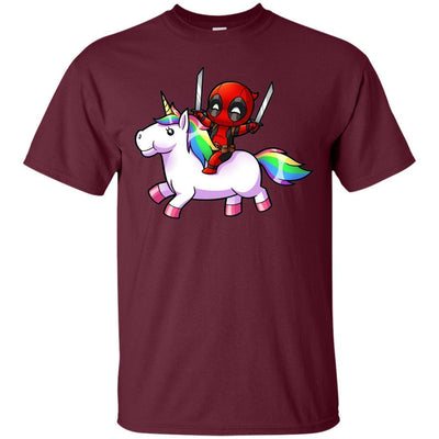 Deadpool Riding Unicorn Shirt - Shipping Worldwide - NINONINE