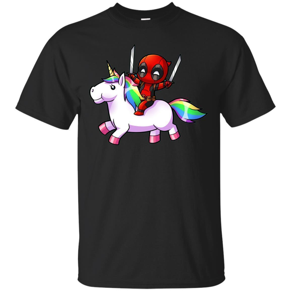 Deadpool Riding Unicorn Shirt