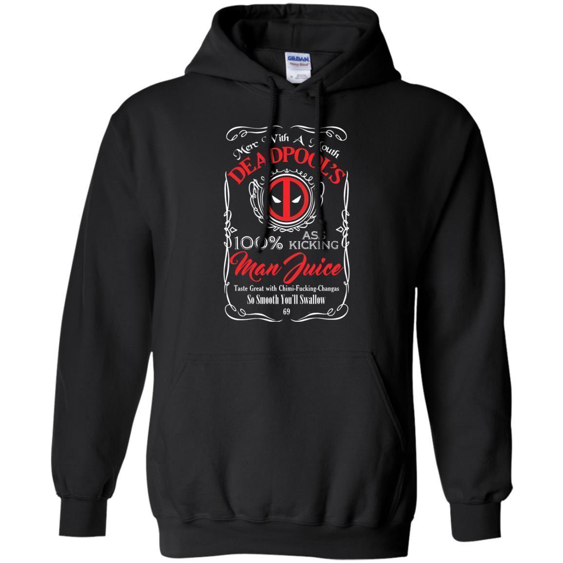 Deadpool The Merc With A Mouth Man Juice Hoodie