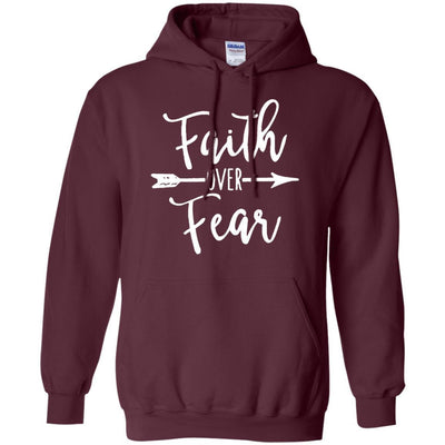 Faith Over Fear Hoodie - Shipping Worldwide - NINONINE