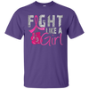 Fight Like A Girl Shirt - Purple - Shipping Worldwide - NINONINE