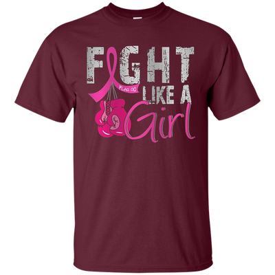 Fight Like A Girl Shirt - Maroon - Shipping Worldwide - NINONINE