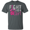 Fight Like A Girl Shirt - Dark Heather - Shipping Worldwide - NINONINE