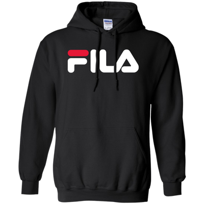 Fila Hoodie Red White Logo - Black - Shipping Worldwide - NINONINE