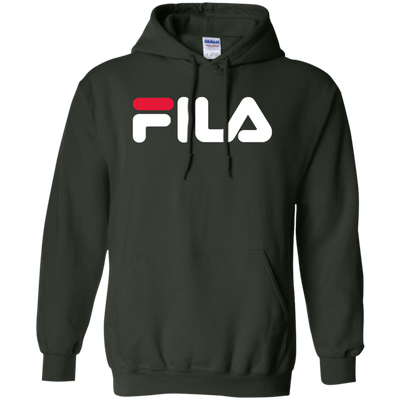 Fila Hoodie Red White Logo - Forest Green - Shipping Worldwide - NINONINE