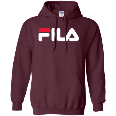 Fila Hoodie Red White Logo - Maroon - Shipping Worldwide - NINONINE