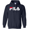 Fila Hoodie Red White Logo - Navy - Shipping Worldwide - NINONINE