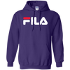 Fila Hoodie Red White Logo - Purple - Shipping Worldwide - NINONINE
