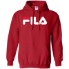 Fila Hoodie Red White Logo - Red - Shipping Worldwide - NINONINE