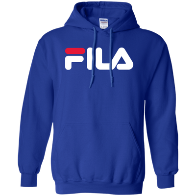 Fila Hoodie Red White Logo - Royal - Shipping Worldwide - NINONINE