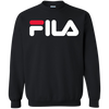 Fila Sweater Red White Logo - Black - Shipping Worldwide - NINONINE
