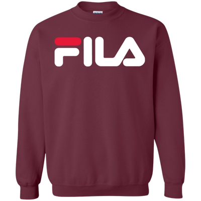 Fila Sweater Red White Logo - Maroon - Shipping Worldwide - NINONINE